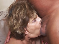 deepthroat with 79 years old mom