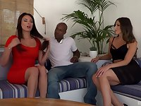 Incredible interracial 3-way with sex bomb Anissa Kate and Alexa Tomas