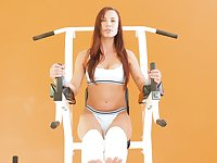 Fit and fabulous teen Aidra Fox gets going good after a workout