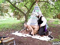 Native babe fucked in a very intriguing outdoor role play