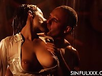 Extremely lubed busty hottie Antonia Sainz feels nice riding strong cock