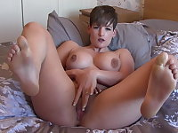 Pussy and ass big toy fuck