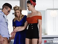 Hottest stepmom India Summer teacher Ariana Marie how to treat BF's huge penis