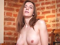 Closeup homemade video of Milana M fingering her shaved fanny