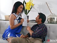 Charming nympho Aaliyah Hadid has nothing against threesome