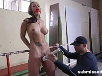 Aroused beauty plays submissive in rough maledom XXX kink