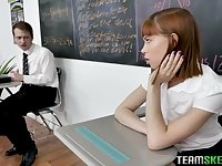 Zealous Lily Lane is horny college gal who doesn't mind having threesome