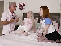 Teens share and swap their dads in crazy foursome