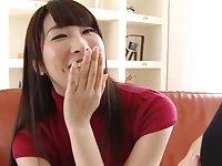 Beautiful Asian girl Shirose Mio loves sucking stiff dicks