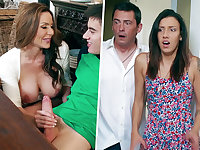 Insatiable Mother inhaling thick rod of daughter-in-law's BOYFRIEND