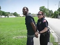 Milf cops take advantage of desperate criminal with a big cock