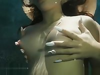 Daisy Haze and Kelly Diamond - Touch me - Underwater Sex