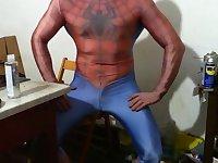 Spiderman lycra muscle fleshlight