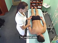 Don in Hot nurse massages patient before sucking and fucking him - FakeHospital