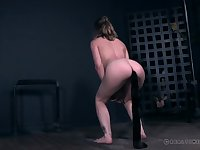 Fun with BDSM play featuring a sweet submissive girl