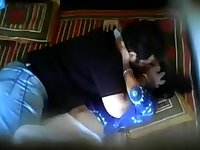 Indian couple fooling around