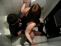 Couple fucking in the public toilet