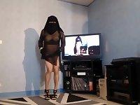 Femme Arabe Voil'E A Gros Seins