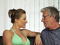 Teen swimmer seducing her BF's father