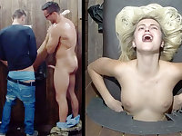 Glory hole-style sex session in a Czech sex dungeon