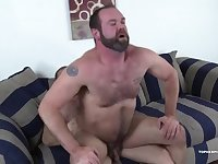 Topher Phoenix is eager to play, as MuscleBull teases his hairy man hole