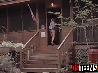 Panicked teenager Marsha May runs from creep to find someone worse