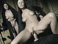 Wicked italian priest with two nuns - fuck in the church