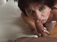 Sexy young retro guy enjoys blowjob and fucks hard Hungarian granny