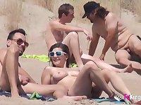 amateur couple swinger love on the beach