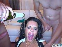 Slutty Stripper Veronica Avluv Serves Steamy Guys