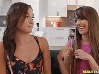 Missy Martinez licks pussies at a lesbian threesome