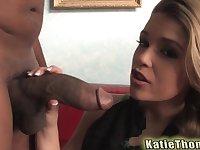 Petite blonde teen slut Katie Thomas ravaged by a big black cock