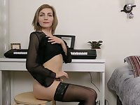 Dirty-minded all alone Judith Angel goes solo as she has some toys for her holes
