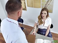 Handsome teacher Johnny castle can't resist fucking spoiled college chick Karla Kush