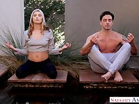 Salacious babe Carolina Sweets is making love with yoga instructor