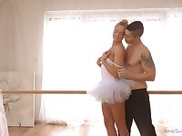 Stunning petite ballerina Victoria Pure is making love with her dance partner