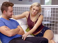 Pretty hot blond stepsister Tiffany Watson is eager for dirty sex with her step brother