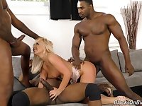 Amber Deen Blondie Nailed In All Holes By Three Black Dicks - ANALDIN