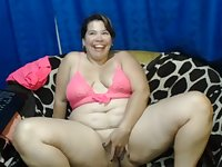 Mexican Webcam MILF Masturbating In Her Sofa