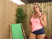 Ardent tanned and curvy Kellie OBrian is ready to play with her knockers