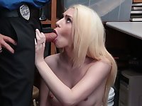 Petite young girl thief cuckold fornicateed in front of angry BF