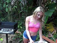 Barbecue turns into an intense one on one action with Khloe Kapri