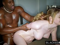 BLACKEDRAW Blond Hair Babe Babe Gets Dominated By Huge BIG BLACK COCK - ANALDIN
