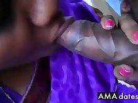 22 Purple saree bhabhi sucking cock like pro