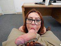 Juicy coed Scarlet Johnson gets pleasantly fucked in POV