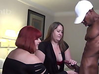 Two big beautiful women share BBC