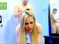 Amateur Blonde Banged Doggystyle