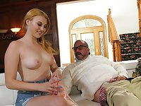 Older dude knows how to satisfy barely legal Kinsley Anne