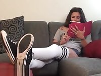 Kayla Jane Danger Sexy Soles in Socks Joi