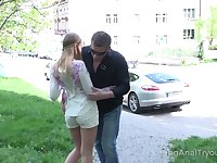 Picked up romantic Russian gal Sabrina Blanc gets analfucked on first date